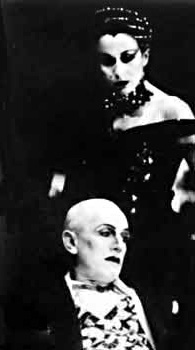 Carmen Du Sautoy and Steven Berkoff